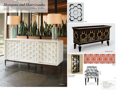 Trend: Hexagons and Honeycombs Honeycombs, High Point Market, Sideboard Furniture, Hexagons, Media Design, Fall 2015, Home Furnishings, Cabinets, Creativity