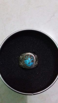 Ring Silver + natural turquoise