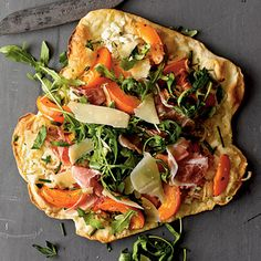 Apricot and Prosciutto Thin-Crust Pizza Recipe by Cooking Light Pizza Recipes, Cooking Recipes, Dinner Recipes, Prosciutto Pizza, Grilled Pizza, Apricot Recipes, Thin Crust Pizza, Thing 1, Le Chef
