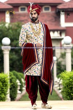 Best Wedding Couture for Groom by Parsh Ethnic Wear. Contact us now on or for all wedding couture and accessories Indian Groom Dress, Wedding Dresses Men Indian, Groom Wedding Dress, Indian Wedding Wear, Wedding Suits, Sherwani Groom, Mens Sherwani, Wedding Sherwani, Mens Ethnic Wear