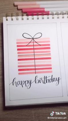 Happy Birthday Cards Handmade, Creative Birthday Cards, Simple Birthday Cards, Birthday Cards For Friends, Bday Cards, Birthday For Best Friend, Birthday Card Drawing, Card Birthday, Birthday Ideas