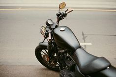 Flat Black Harley Davidson. I love the look of matte black paint
