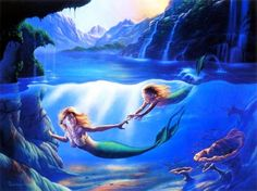 mermaid paintings - Google Search