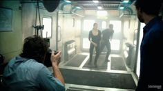 Gif - Four and Tris jumping off the train