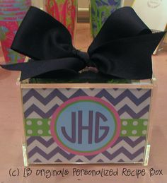 Personalized Recipe Box by preppypapergirl on Etsy, $40.00