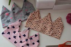 DIY: Šitá korunková čelenka | AE style svět Polka Dot Top, Diy And Crafts, Couture, Sewing, Baby Style, Women, Fashion, Moda, Dressmaking