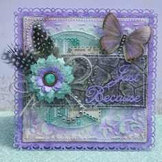 Amy Voorthuis created this beautiful card using the new Enchanted Garden collection. Love those colors. #BoBunny, @amyvoorthuis