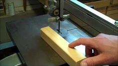 Adjusting your band saw for blade drift - YouTube