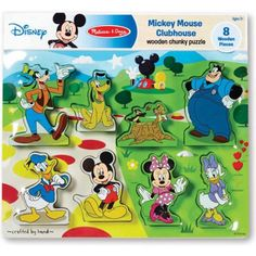 Melissa & Doug Disney Mickey Mouse Clubhouse Wooden Chunky Puzzle Disney Winnie The Pooh, Baby Disney, Disney Junior, Disney Frozen, Preschool Puzzles, Minnie Mouse Toys, Disney Mickey Mouse Clubhouse, Mickey Mouse Wallpaper, Fun Games For Kids