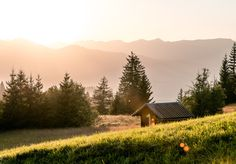 Cabin Porn – Sunlit cabin in the Bavarian Alps. Submitted by...