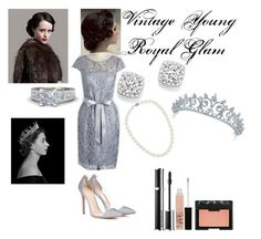 """""""Vintage Young Royal Glam"""" by classic-erynn on Polyvore featuring Gianvito Rossi, Bloomingdale's, Blue Nile, NARS Cosmetics, Givenchy, Bling Jewelry, vintage and thecrown"""