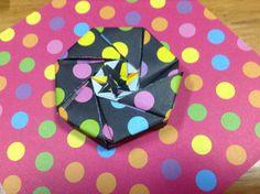 ハンドメイド:折り紙で八角形の箱
