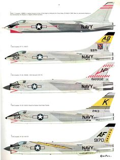 31 Chance Vought F-8 Crusader