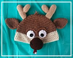 Sven the reindeer Frozen crochet beanie / hat  Sorry no pattern. Made by trial & error.