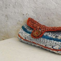 Recycled fabrics purse in red and blue with by MammaEarthCreations ♡♡