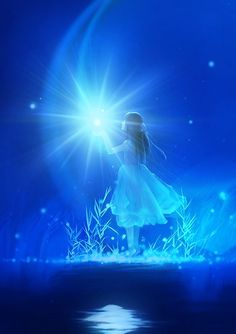 BLUE | FlyWithME |  LOUD & magical.stunning.daydreamFORme | A Quiet Mind | STAY| #beautiful #creative #artwork HOLDing #dreams | Lovely #color & #lighting #anime | Beautiful Artwork, Beautiful Pictures, Anime Galaxy, Kobold, Pretty Wallpapers, Moon Art, Cartoon Wallpaper, Art Girl, Fantasy Art