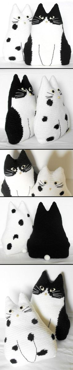 Cats - *Inspiration* Find tons of crocheted cats here http://www.crochetpatterncentral.com/directory/cats.php