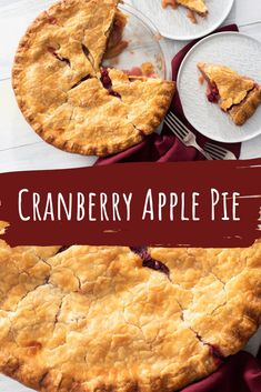 Embrace the holiday season with our Cranberry Apple Pie! This recipe will be your family's new favorite! 🍎 Get the recipe here! Sugar Free Desserts, Gluten Free Desserts, No Bake Desserts, Apple Pie Recipes, Fall Recipes, Holiday Recipes, Holiday Meals, Holiday Desserts, Apple Cranberry Pie