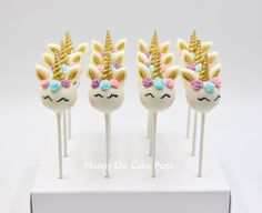 Unicorn themed Cake Pops — Hunny Do Cake Pops Unicorn Themed Cake, Unicorn Cake Pops, Unicorn Cakes, Raspberry Smoothie, Apple Smoothies, Cake Pop Decorating, Chocolate Flowers, Salty Cake, Unicorn Birthday Parties