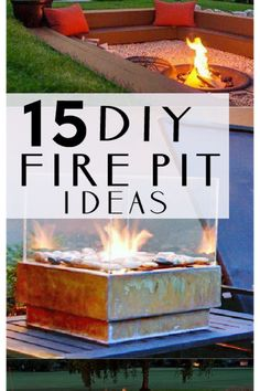 YES- DIY firepit tutorials!!