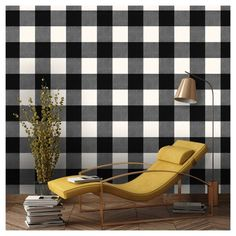 Devine Color Prints and Patterns Buffalo Plaid Black and Lightning in a black and off white color way is a peel-and-stick, removable, wall and surface covering that is easy to apply, reposition and remove. Simply peel and stick onto a smooth, primed and painted wall or surface that is in good condition. Or try it on a door, furniture or accent piece. Devine Color Prints and Patterns is perfect for small projects. One roll will transform a 27.5 sq. ft. area. Product works best when applied to…
