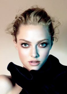 Amanda Seyfried. Her makeup look is fantastic!!  Love the pale pink lip and sultry soft smoky eye.