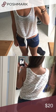 Cream top Worn once, very good condition Charlotte Russe Tops Crop Tops