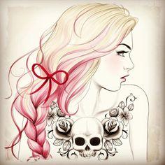 skulls and bows