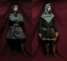 Norwegian Viking by wyverex on deviantART. Skjoldehamn tunic and hood, Gokstad belt purse