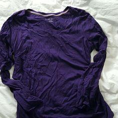 Maternity top Dark purple with side ruching Liz Lange Tops Tees - Long Sleeve