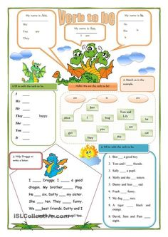 This is the first ws in a little series of grammar for beginners. Collect them all and make a booklet with grammar exercises. Grammar: BE (auxiliary verb); English Grammar Worksheets, Grammar Book, English Verbs, Teaching Grammar, Grammar Lessons, English Vocabulary, Teaching English, Easy Grammar, English Time
