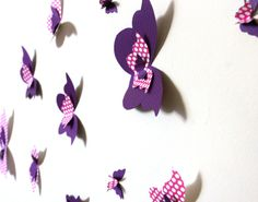 Purple And Pink 3D Butterfly Wall decal 16 Piece by MyDreamDecors, $28.50