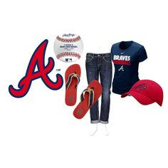 Atlanta Braves Girl, created by chs12 on Polyvore