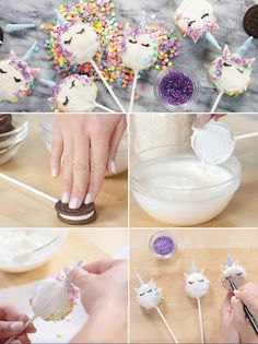 Lisa Frank-ophiles Need to Make These Unicorn Oreo Pops ASAP ) ) When and collide … you get these adorable pops! DIY Party Food 2017 / 2018 When and collide . you get these a Oreo Pops, Cookie Pops, Unicorn Birthday Parties, Girl Birthday, Cake Birthday, Birthday Ideas, School Birthday Treats, Birthday Recipes, Lisa Frank