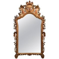 Italian  Wood Carved Mirror
