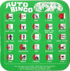 auto bingo - we went on a lot of trips growing up and would use these. we had city cards and country cards. My Childhood Memories, Childhood Toys, Great Memories, Road Trip Games, Road Trips, I Remember When, Good Ole, Ol Days, My Memory