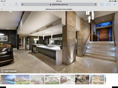 Nice entry, kitchen, and use of marble