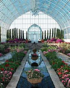 Destination Weddings | Martha Stewart Weddings, I would love a ceremony here with the flowers.