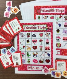 $ Valentine bingo Riddles- Guess the rhyming riddles to play. A buyer said: I loved using this game with my students! It is different from just a regular bingo game because it includes clues that the kids have to guess. I also thought it was great that you included the low color option. It definitely helps save ink and money. :