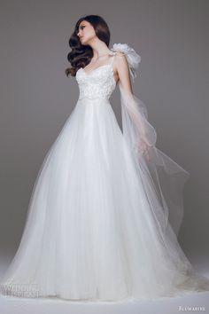 blumarine 2015 bridal romantic wedding dress straps