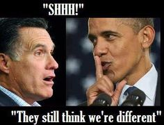 #obama and #romney --- no difference
