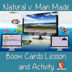 Natural v. Man Made - Boom Cards Digital Lesson Lessons For Kids, Science Lessons, Teaching Science, Teaching Kids, Classroom Resources, Teacher Resources, Role Play Areas, English Lessons, Primary School