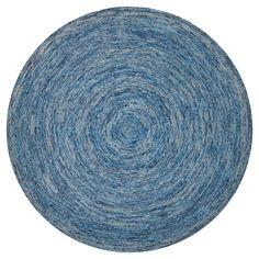 Dark Blue/Multi Solid Tufted Round Area Rug - (8' Round) - Safavieh