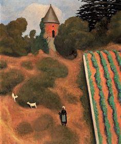 Félix Édouard Vallotton (1865-1925), Côte roussie et tourelle, Champtoceaux, huile sur toile, signée et datée 1923, 55 x 46 cm. Estimation : 50 000/80 000 €. Samedi 29 novembre, Toulouse. Marc Labarbe SVV. M. Arar.