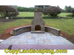 Outdoor fireplace designs and Backyard