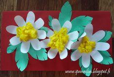 askartelua: äitienpäivä, kortti, valkovuokko crafts: Mother's Day, card, wood anemone hantverk: mors dagkort, vitsippor http://ipanaaskartelua.blogspot.fi/2012/05/aitienpaivakortti-i.html