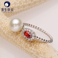Aliexpress.com : Buy Adjustable Freshwater Pearl Rings 2016 Fashion Button Natural White Pearl Rings For Women 925 silver Jewelry Party Ring YSETB014 from Reliable ring bike suppliers on pearls by yuansheng