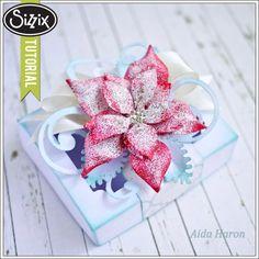 Sizzix Die Cutting Tutorial   Poinsettia Gift Box by Aida Haron