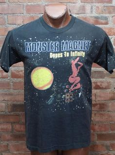 3a6fed269a Monster Magnet Dopes To Infinity 1995 Concert T Shirt – Black Shag Vintage  Infinity
