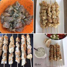 Souvlaki de poulet ou brochette de poulet